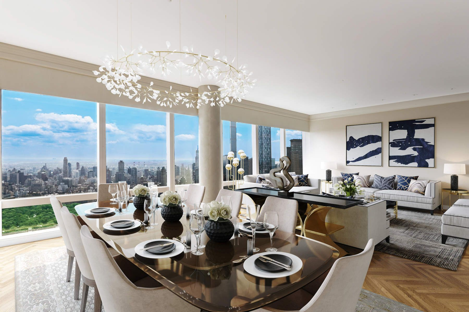 Condominium for Sale at The Residences Mandarin Oriental 75C/75E 80 Columbus Circle Apt 75C/75E, New York, New York 10023 United States