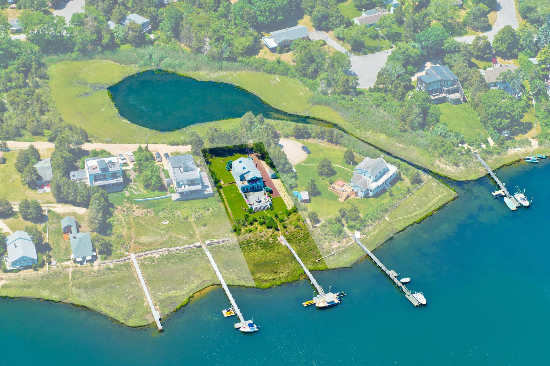 Single Family Home for Sale at Panoramic Water Views 17 Sims Drive, Sag Harbor, New York, 11963 United States