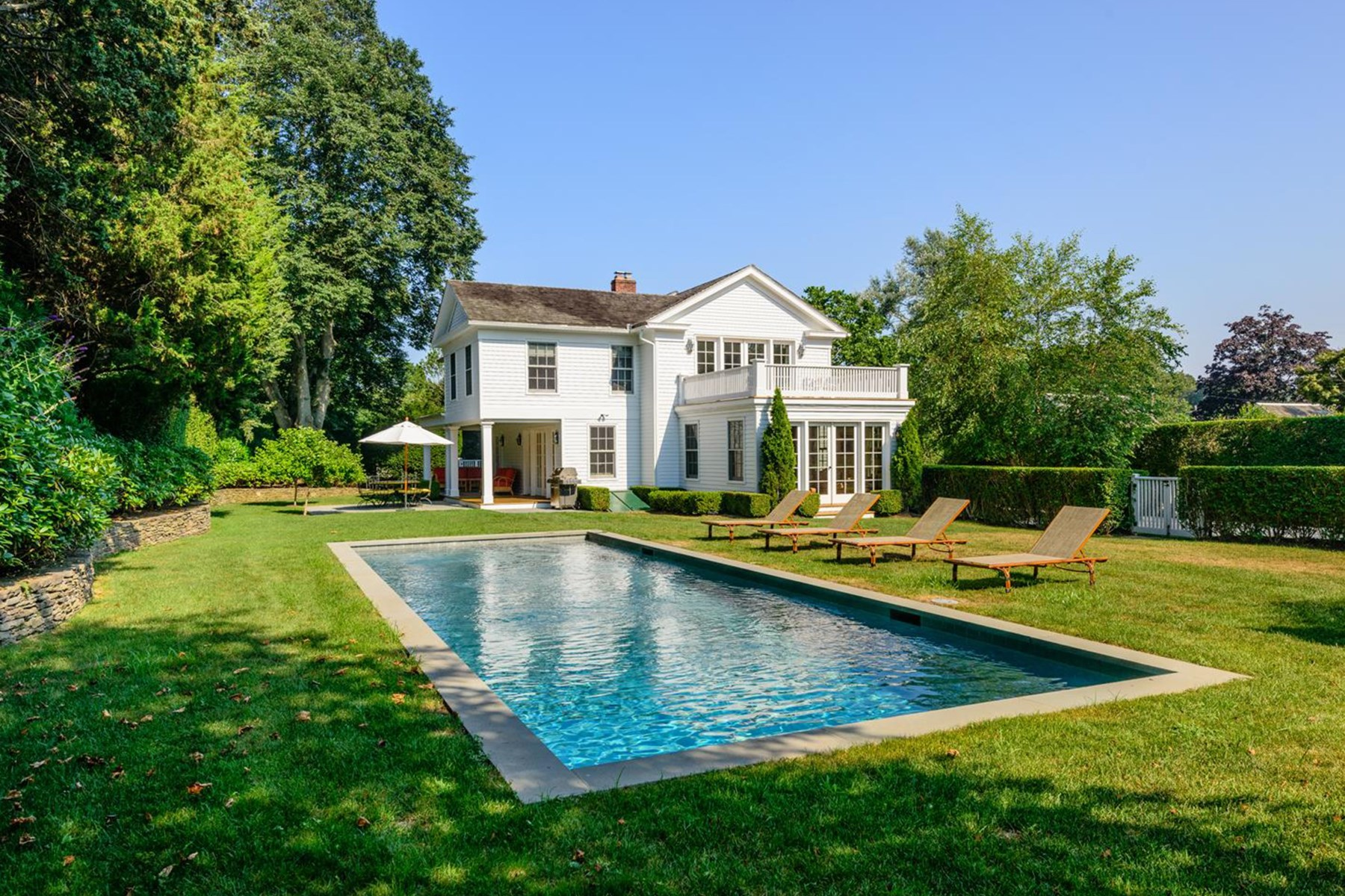 Single Family Home for Rent at Magnificent Historic Greek Revival, Bridgehampton South, Bridgehampton, New York, 11932 United States