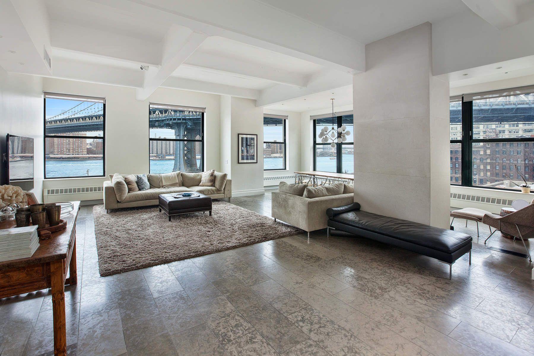 Кондоминиум для того Продажа на Spacious, Renovated Waterfront Loft 1 Main Street Apt 5D Brooklyn, Нью-Йорк 11201 Соединенные Штаты