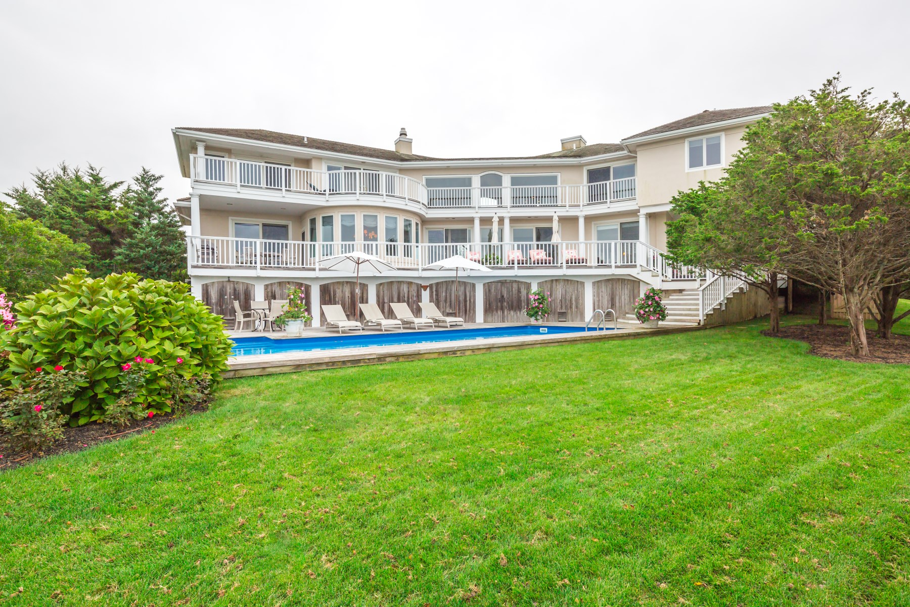 Single Family Home for Rent at Private Palazzo on Mecox Bay with Dock 86 Dune Rd Bridgehampton South, Bridgehampton, New York, 11932 United States