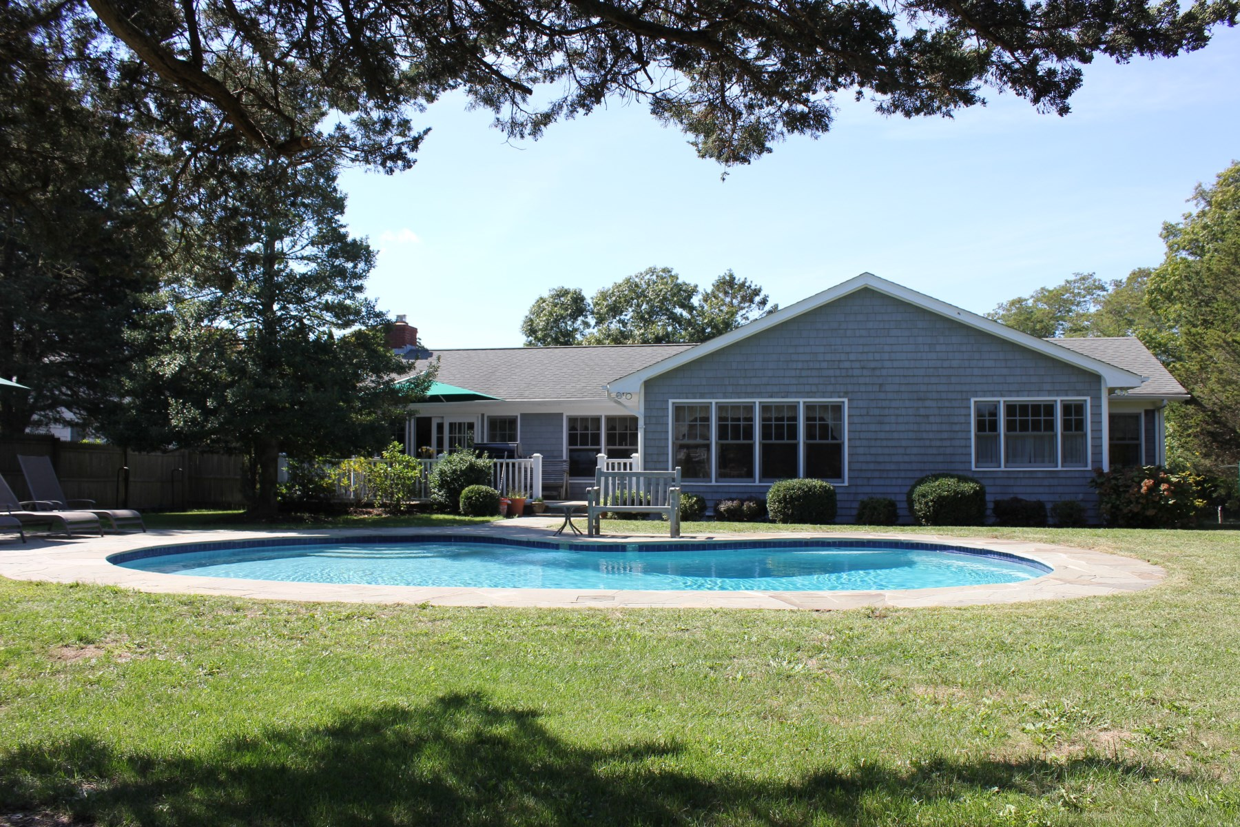 Single Family Home for Rent at Beautiful Ranch in Southampton 514 North Main Street Southampton, New York 11968 United States