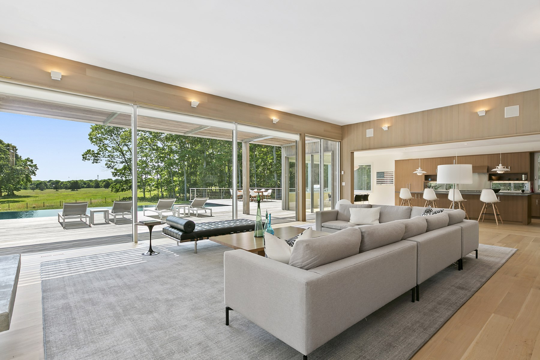 Single Family Home for Sale at New Modern, Overlooking Open Fields 22 Scrimshaw Lane, Amagansett, New York, 11930 United States