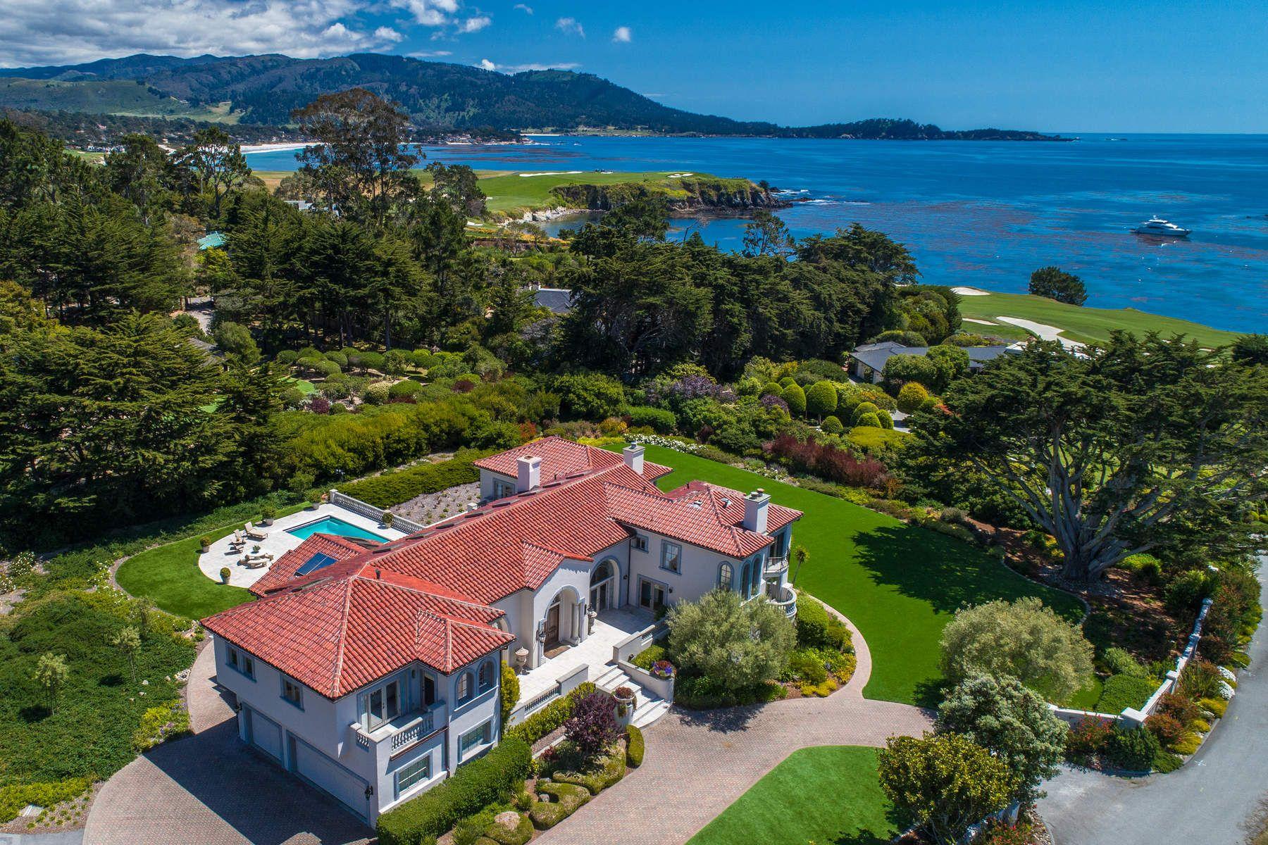 Single Family Homes por un Venta en Villa on 16th Fairway at Pebble Beach 3208 Stillwater Lane Pebble Beach, California 93953 Estados Unidos