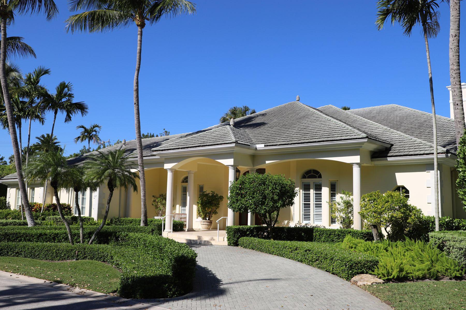 Single Family Home for Active at Stunning Bermuda Home at 227 Via Tortuga 227 Via Tortuga Palm Beach, Florida 33480 United States