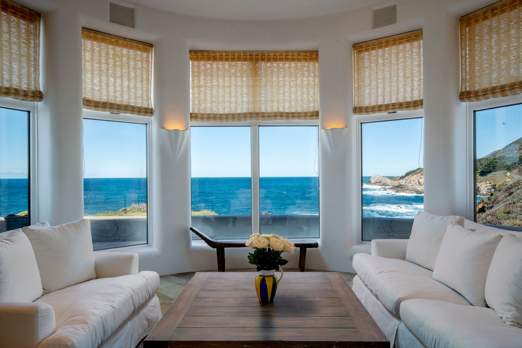 Single Family Homes for Sale at Artistic Oceanfront 36654 Highway 1 Carmel Highlands, California 93940 United States