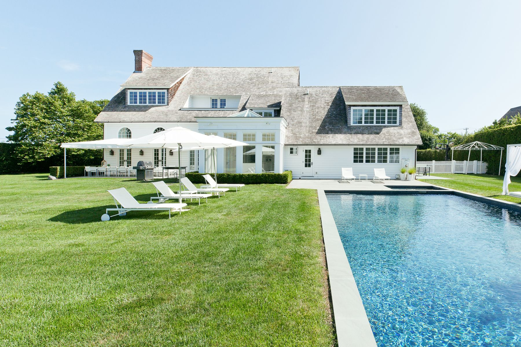Single Family Home for Active at Stylish Southampton Estate With Tennis 455 Wickapogue Road Southampton, New York 11968 United States