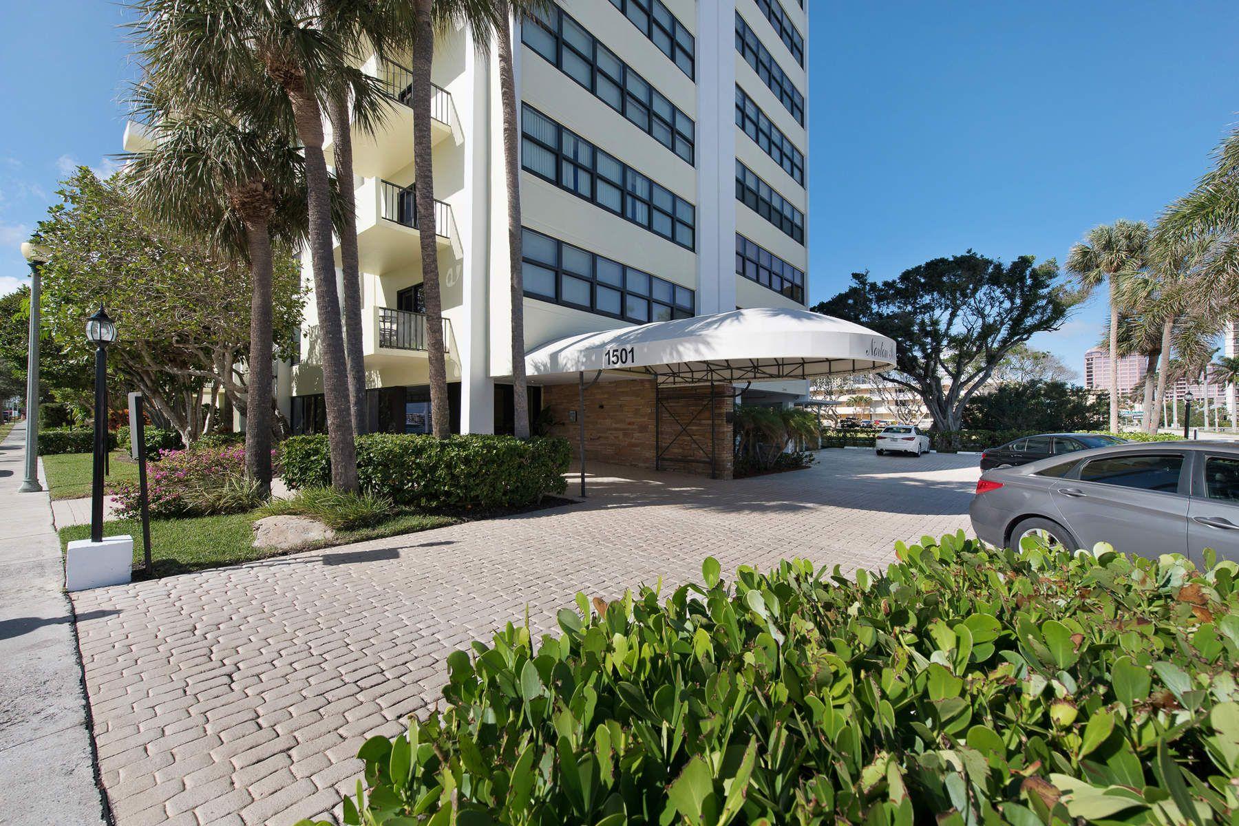 콘도미니엄 용 매매 에 Norton Park Place Intracoastal Views 1501 S Flagler Drive 9D, West Palm Beach, 플로리다, 33401 미국