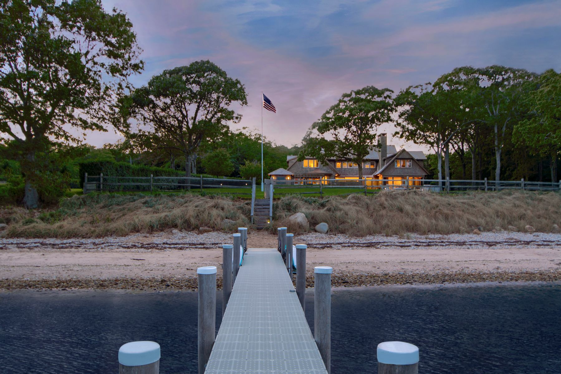 Single Family Home for Active at First Class Bay Front Home W Pool & Dock Sag Harbor, New York 11963 United States