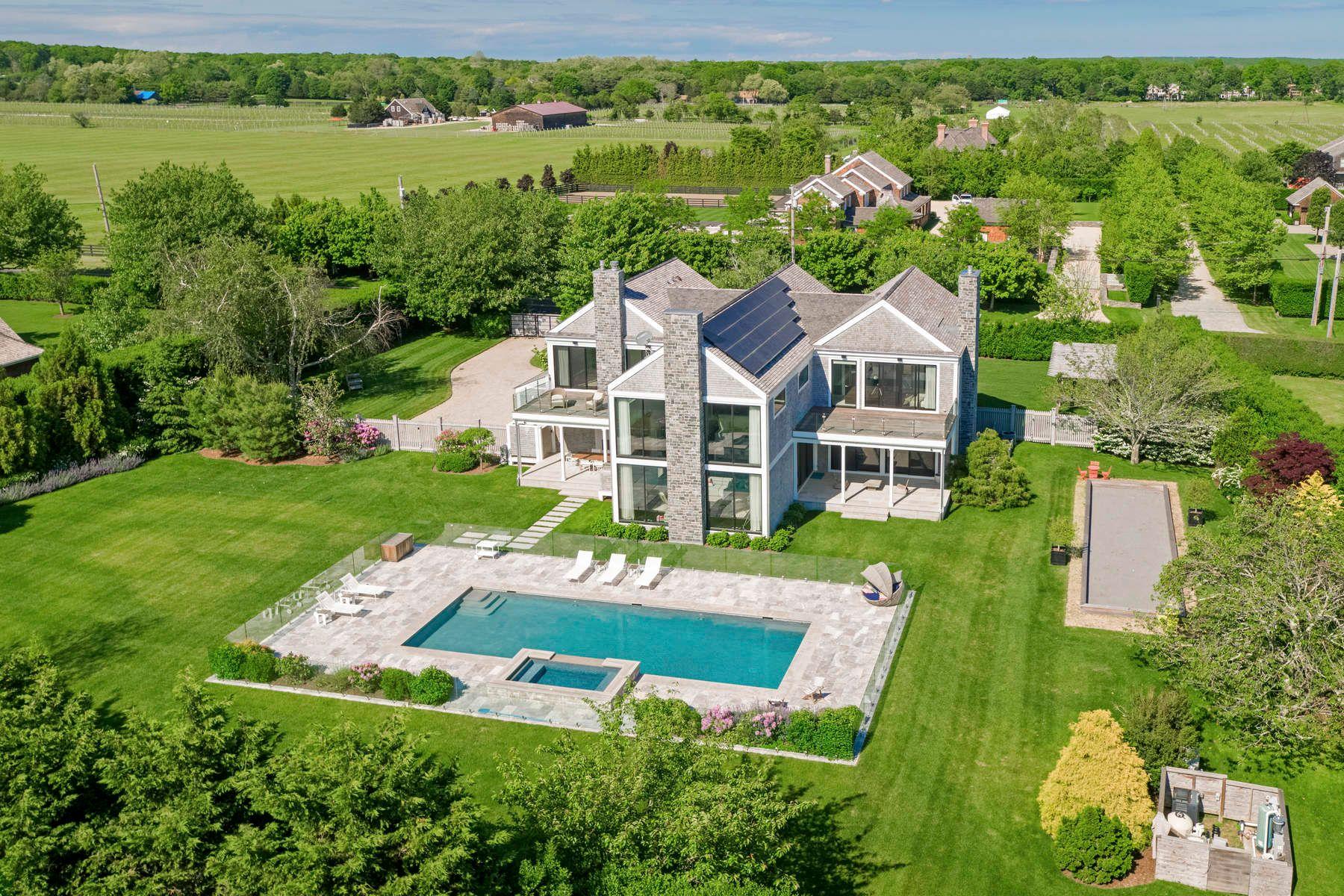 Single Family Home for Sale at Modern Barn Style On Lumber Lane 754 Lumber Lane Bridgehampton, New York 11932 United States