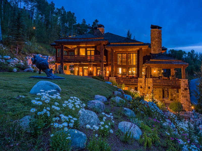 Single Family Home for Sale at Beaver Creek's Most Stunning Log Home 201 Borders Rd Avon, Colorado 81620 United States