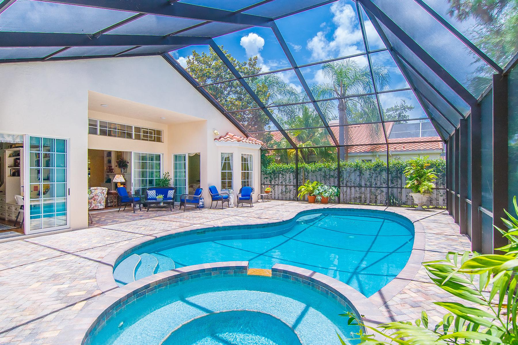 Частный односемейный дом для того Продажа на VILLA FIORE 8000 Via Fiore Sarasota, Флорида 34238 Соединенные Штаты