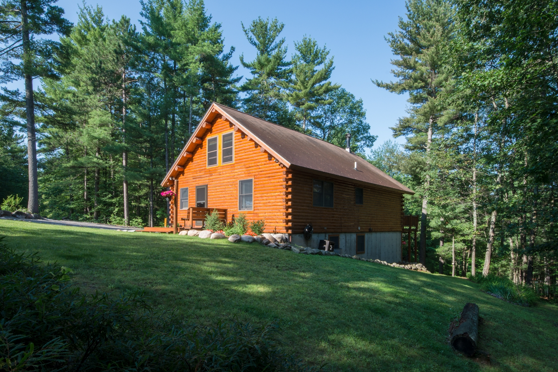 Other Residential for Sale at Adirondack Log Cabin 206 Sequoia Mountain Lane Jay, New York 12941 United States