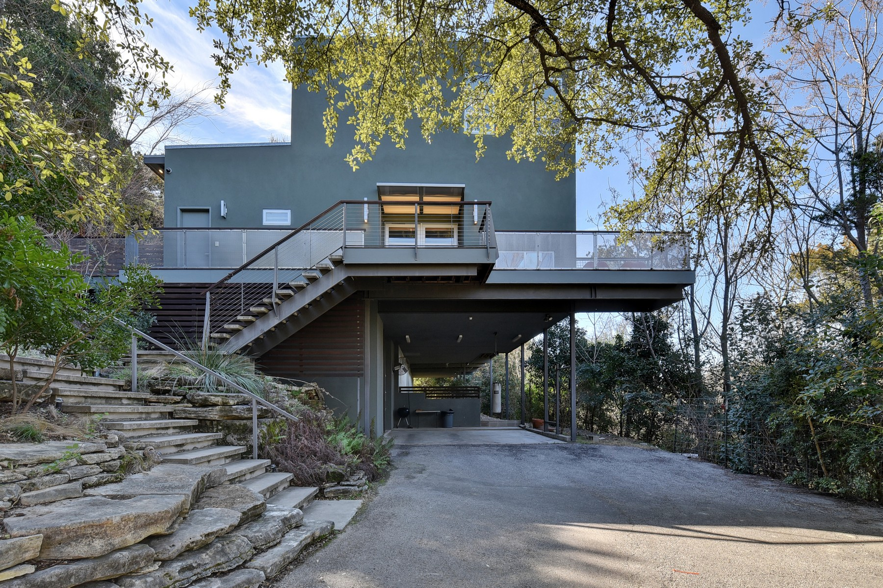 Single Family Home for Sale at Contemporary, Tranquil Oasis in Northwest Hills 3611 Hillbrook Dr Austin, Texas 78731 United States