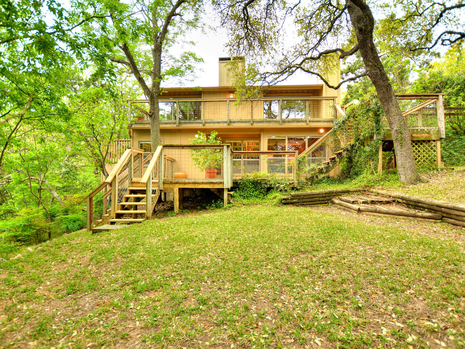 "Single Family Home for Sale at Sophisticated ""Tree House"" in a Quiet Neighborhood 5100 Beverly Skyline Austin, Texas 78731 United States"
