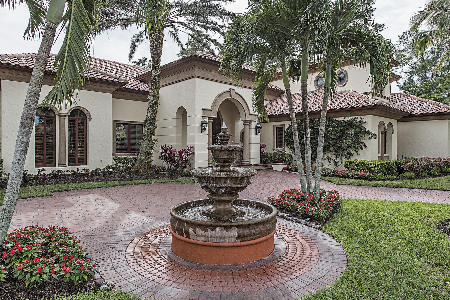 Casa para uma família para Venda às PELICAN MARSH - BAY LAUREL ESTATES 8727 Purslane Dr Naples, Florida, 34109 Estados Unidos