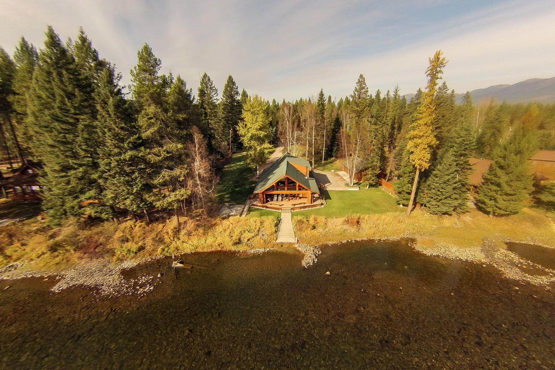 Частный односемейный дом для того Продажа на Unique Swan River Home 191 Shady Ln Bigfork, Монтана, 59911 Соединенные Штаты