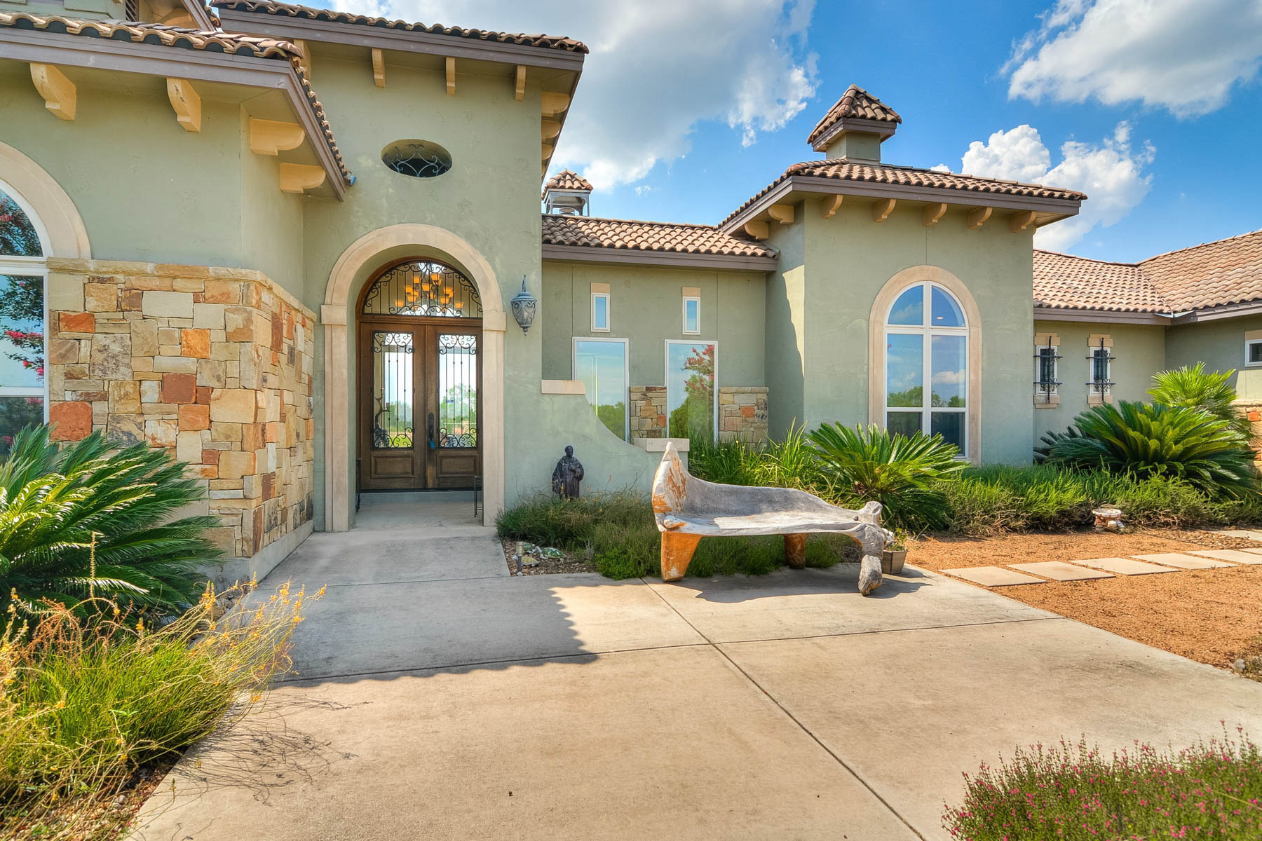 Single Family Home for Sale at Stunning Mediterranean Custom Home 7397 Real Rd China Grove, Texas 78263 United States