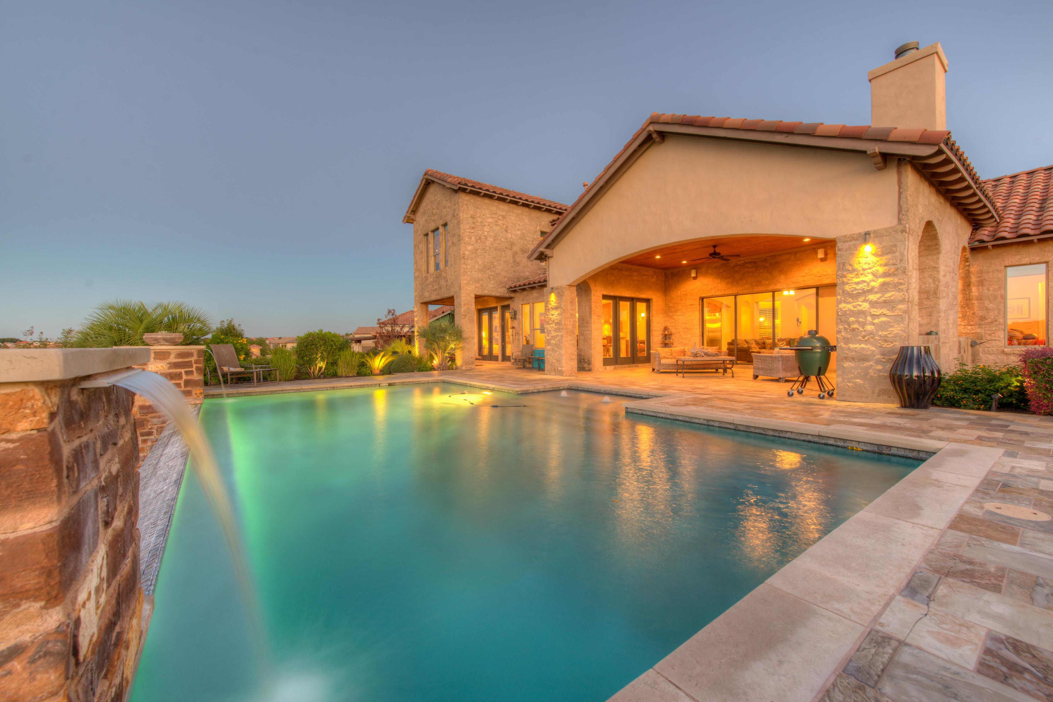 Single Family Home for Sale at Custom Mediterranean Estate 3820 Pawnee Pass Austin, Texas 78738 United States