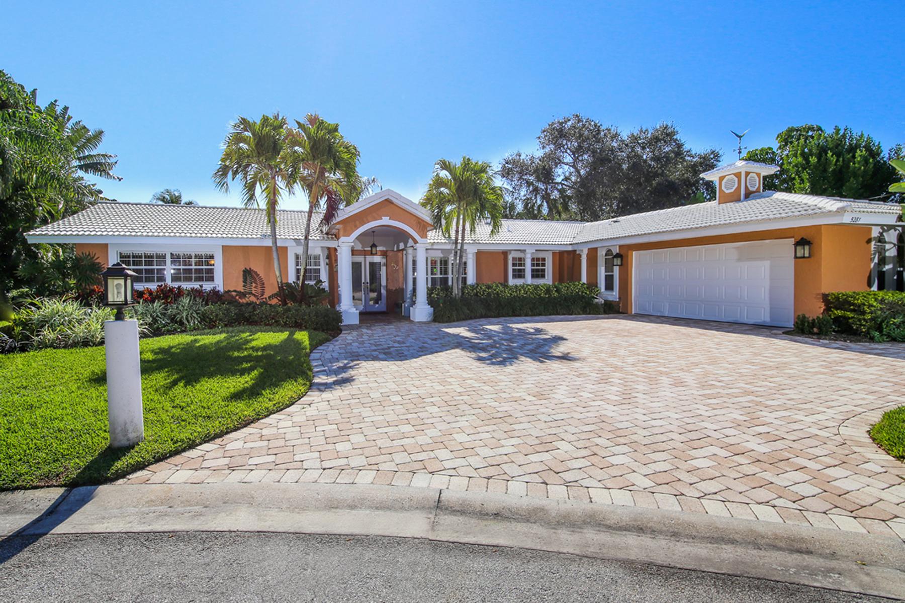 단독 가정 주택 용 매매 에 SIESTA ISLES 5281 Cape Leyte Way Sarasota, 플로리다, 34242 미국