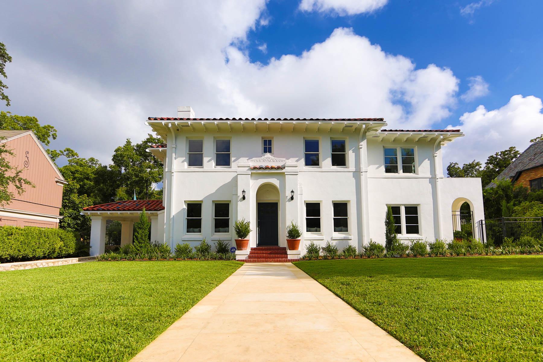Single Family Home for Sale at Mediterranean Style Home in Monte Vista 117 W Gramercy Pl San Antonio, Texas 78212 United States