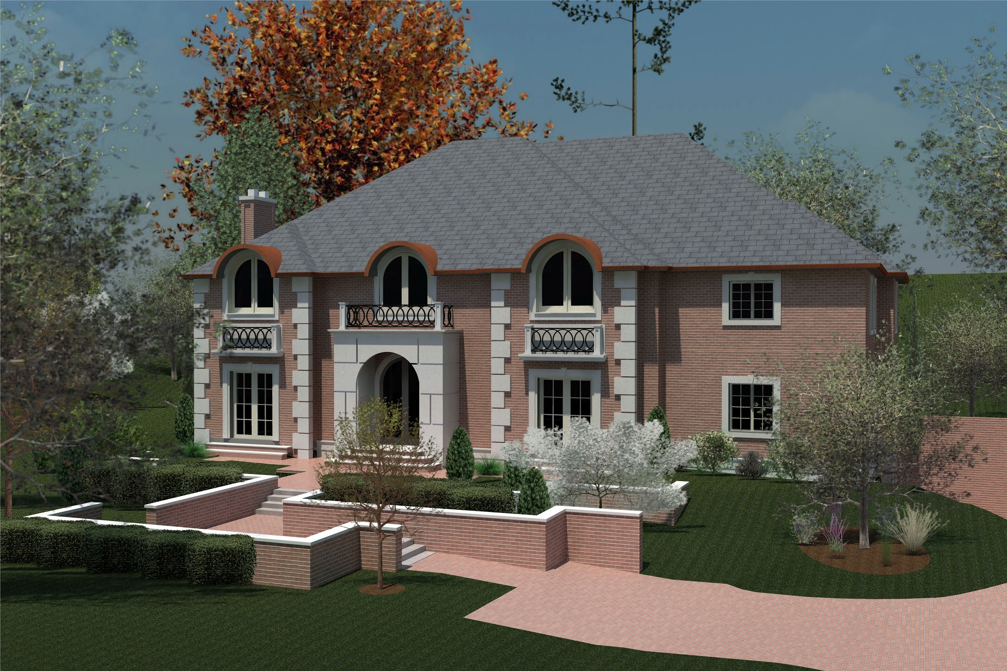 Single Family Home for Sale at Colonial - New Construction 717 Motts Cove Rd N. Roslyn Harbor, New York, 11576 United States
