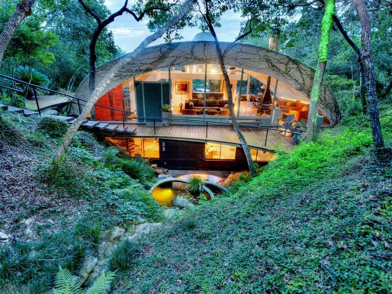 Nhà ở một gia đình vì Bán tại Frank Lloyd Wright Inspired Home 504 Spiller Ln Austin, Texas 78746 Hoa Kỳ