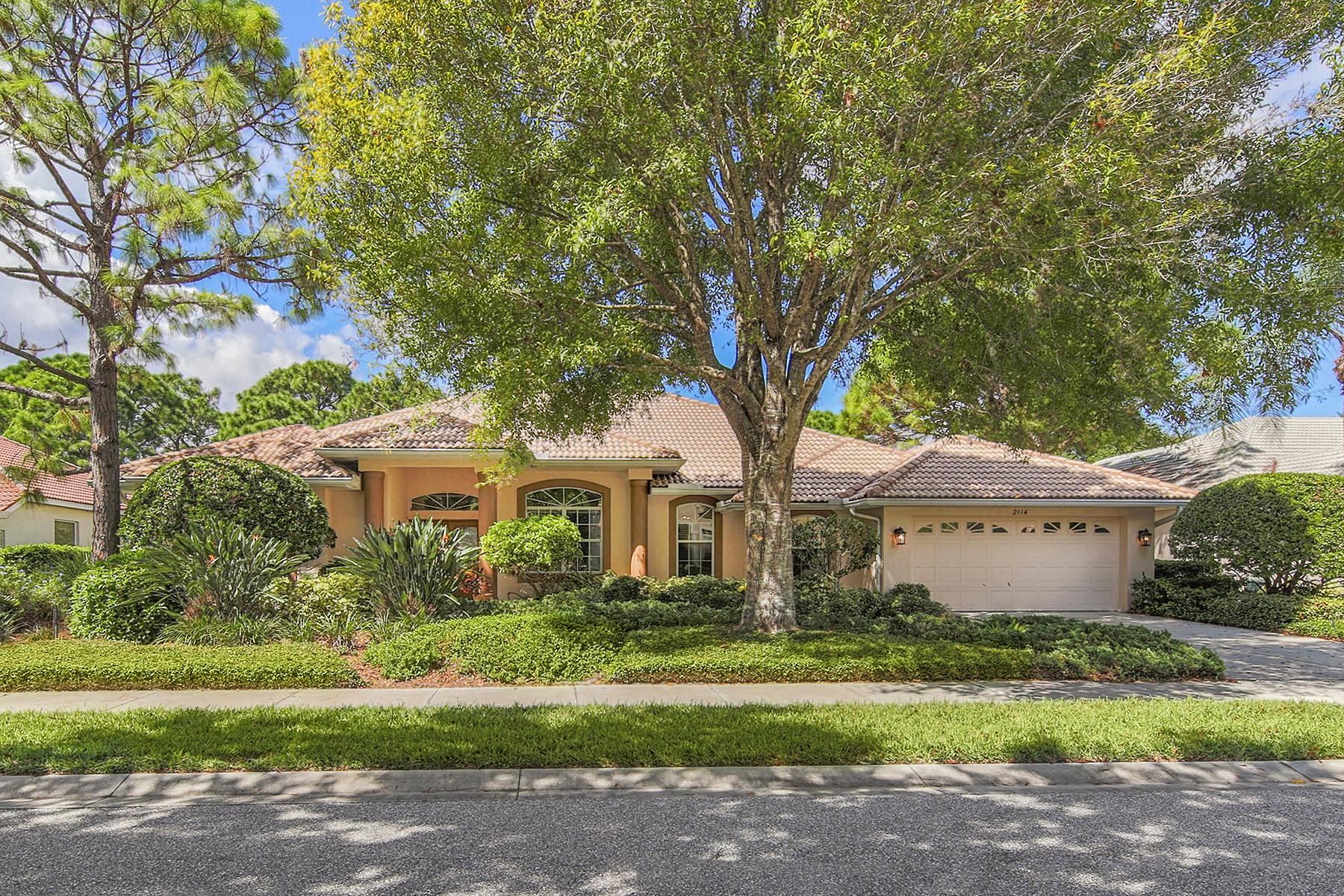 Casa Unifamiliar por un Venta en CALUSA LAKES 2114 Muskogee Trl Nokomis, Florida, 34275 Estados Unidos