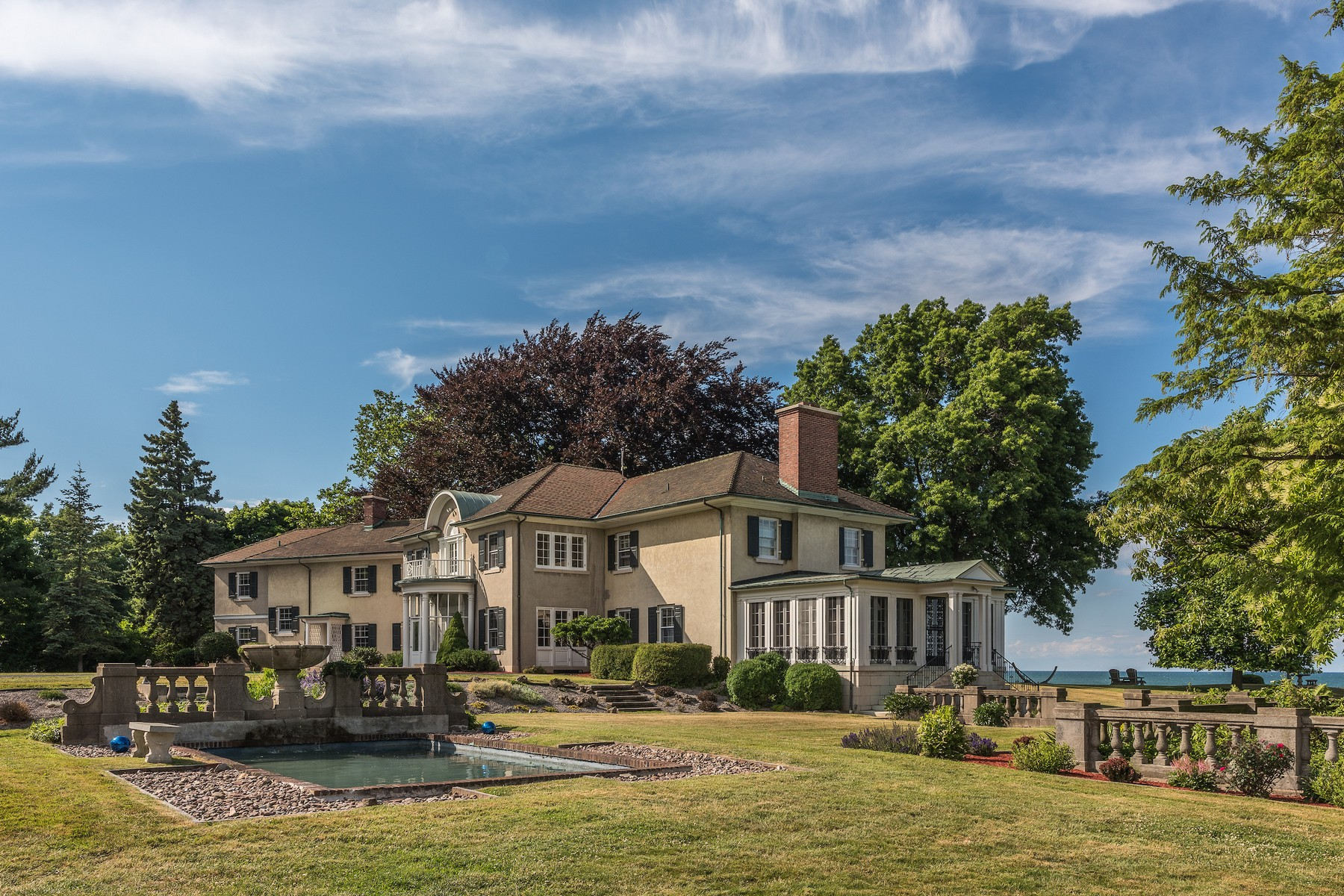 Single Family Home for Sale at Gold Coast Estate on Lake Ontario 630 Rock Beach Rd Irondequoit, New York 14617 United States