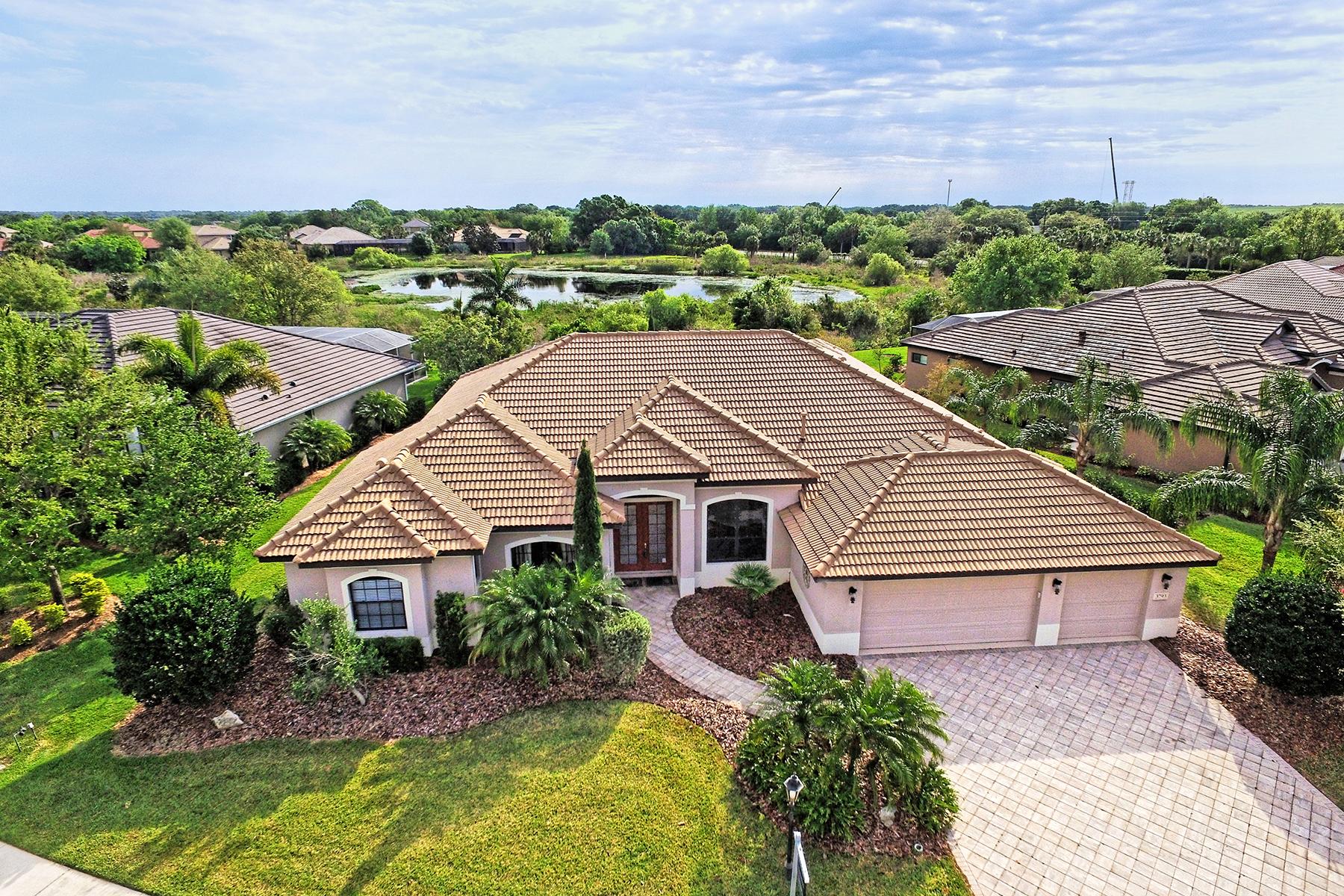 Maison unifamiliale pour l Vente à HAMMOCKS 3793 Eagle Hammock Dr Sarasota, Florida, 34240 États-Unis