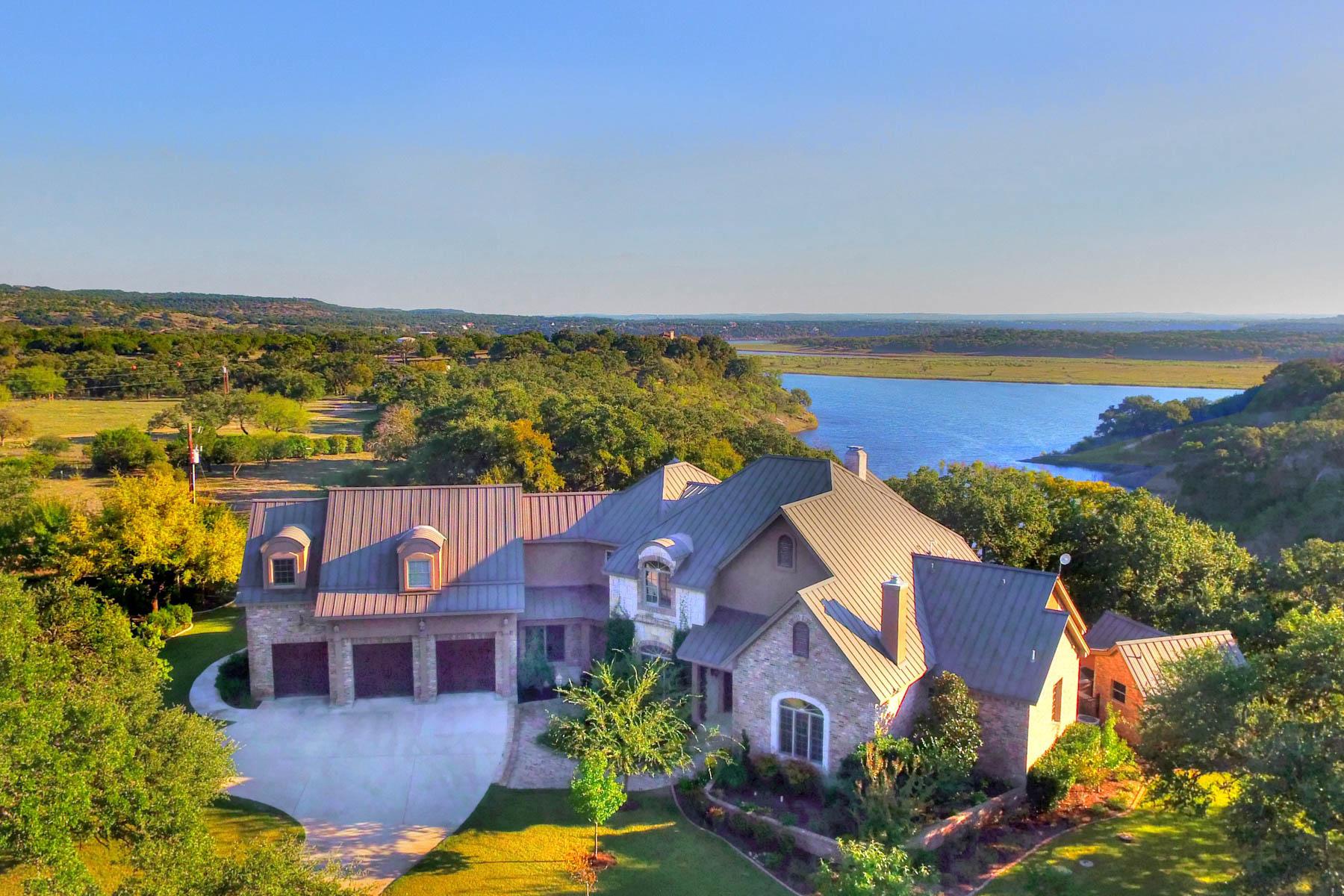 단독 가정 주택 용 매매 에 Elegant Waterfront Estate in Marble Falls 28105 Turner Ranch Rd Marble Falls, 텍사스 78654 미국