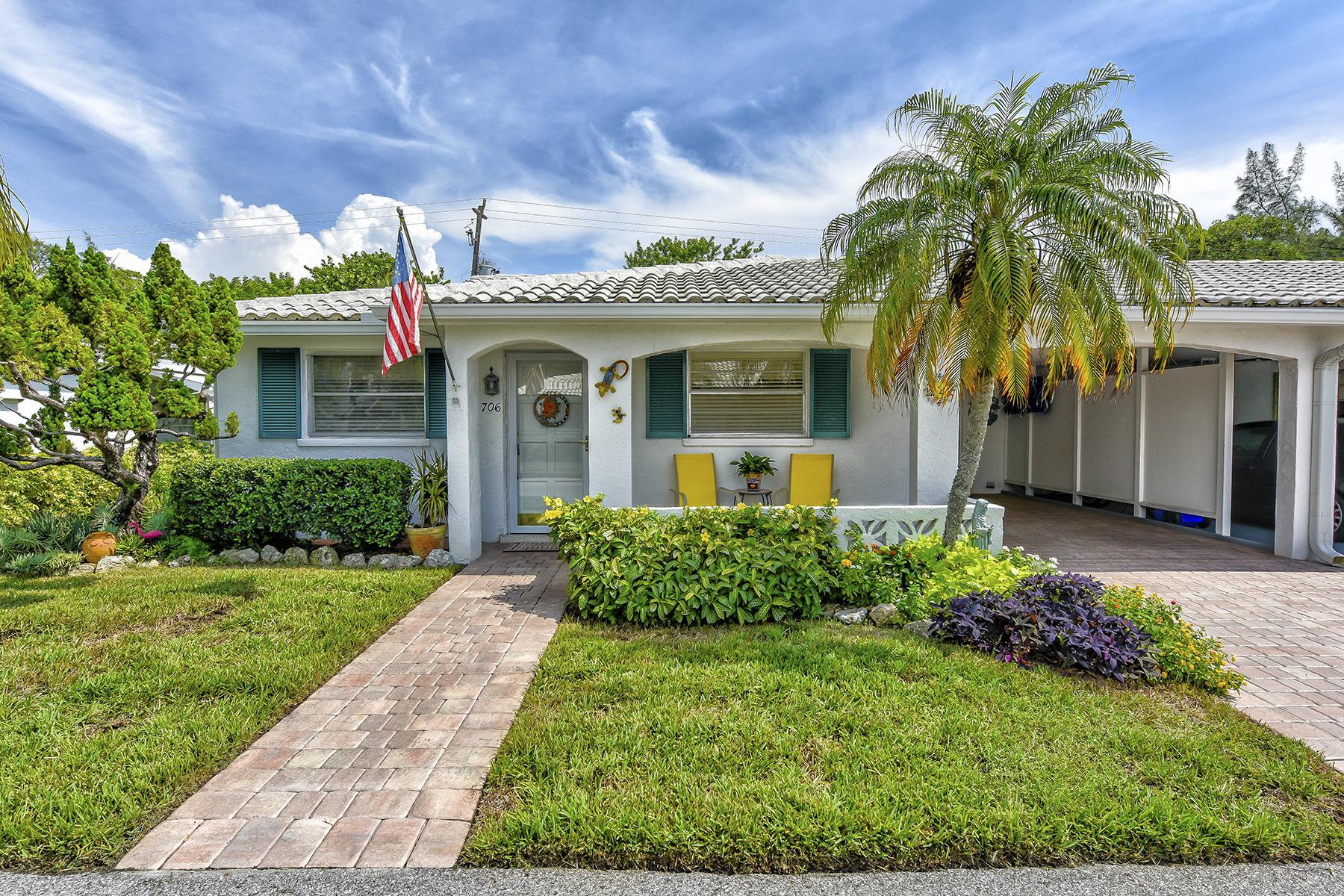 联栋屋 为 销售 在 SPANISH MAIN YACHT CLUB 706 Spanish Dr S Longboat Key, 佛罗里达州 34228 美国