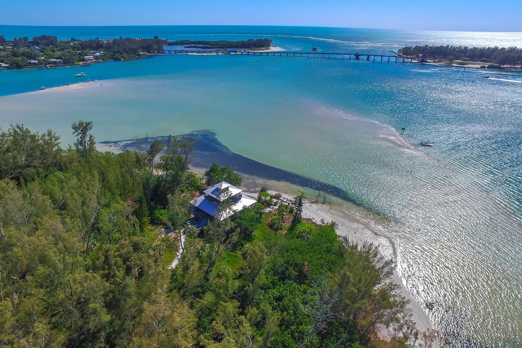 단독 가정 주택 용 매매 에 LA LENAIRE ISLE 7155 La Lenaire Dr Longboat Key, 플로리다, 34228 미국