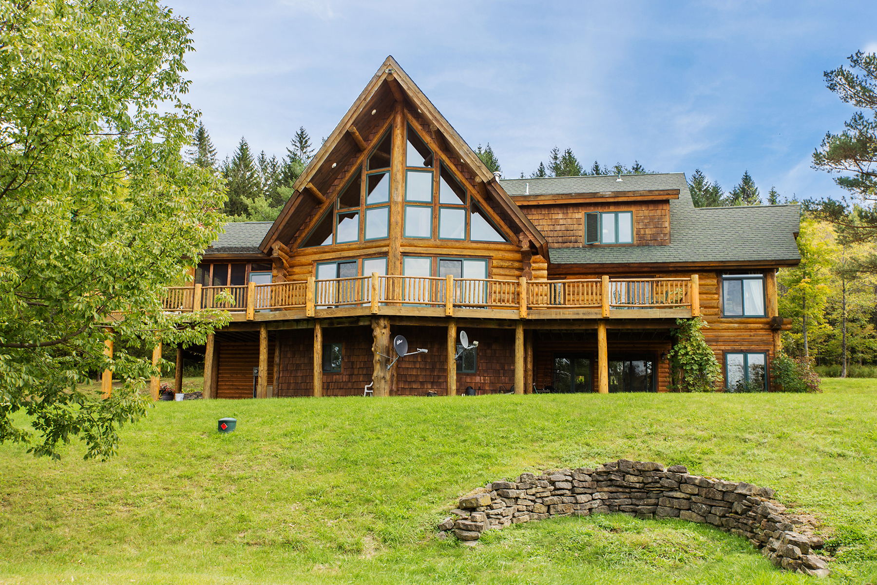 Single Family Home for Sale at Canadian Spruce Log Home 667 County Route 353 Rensselaerville, New York 12147 United States
