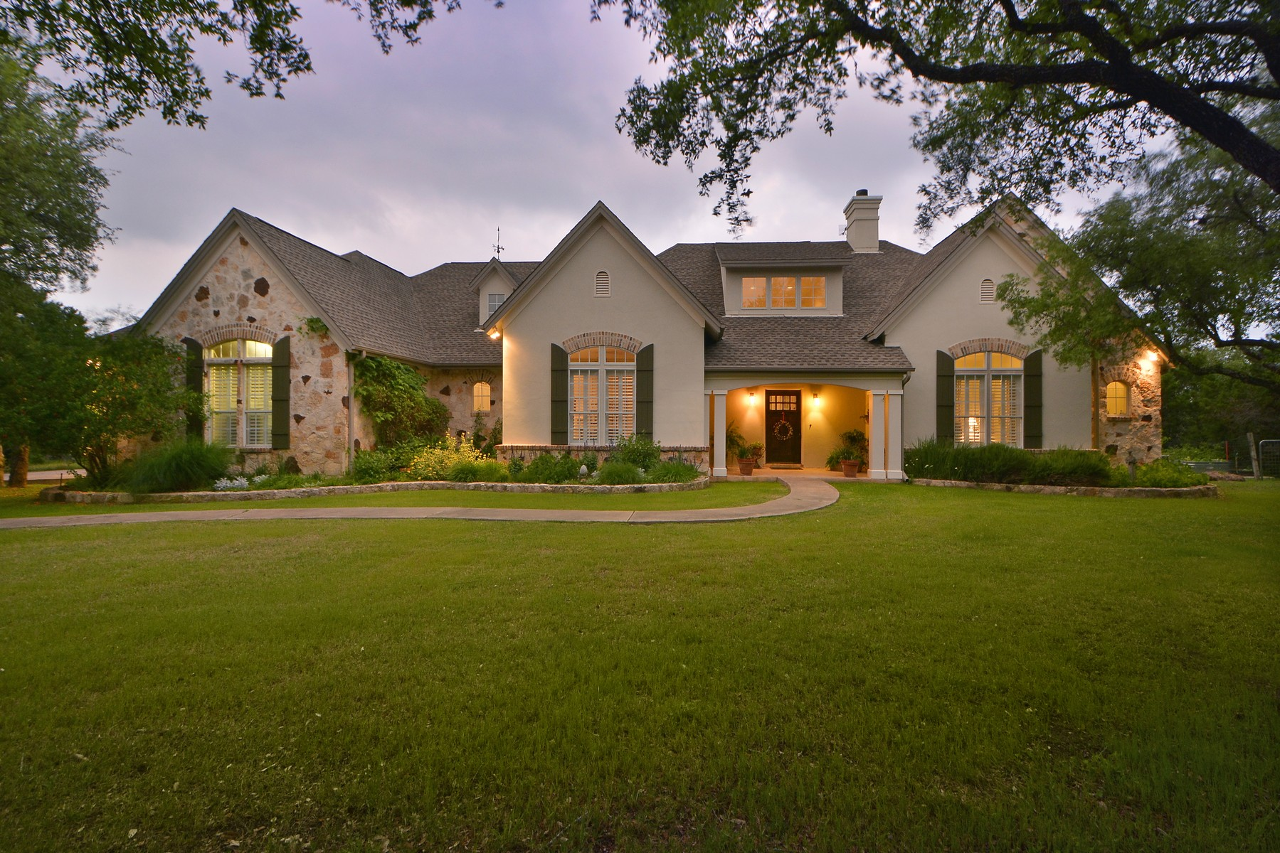 Single Family Home for Sale at Old World Style Home in Triple Creek Ranch 12220 Triple Creek Dr Dripping Springs, Texas 78620 United States