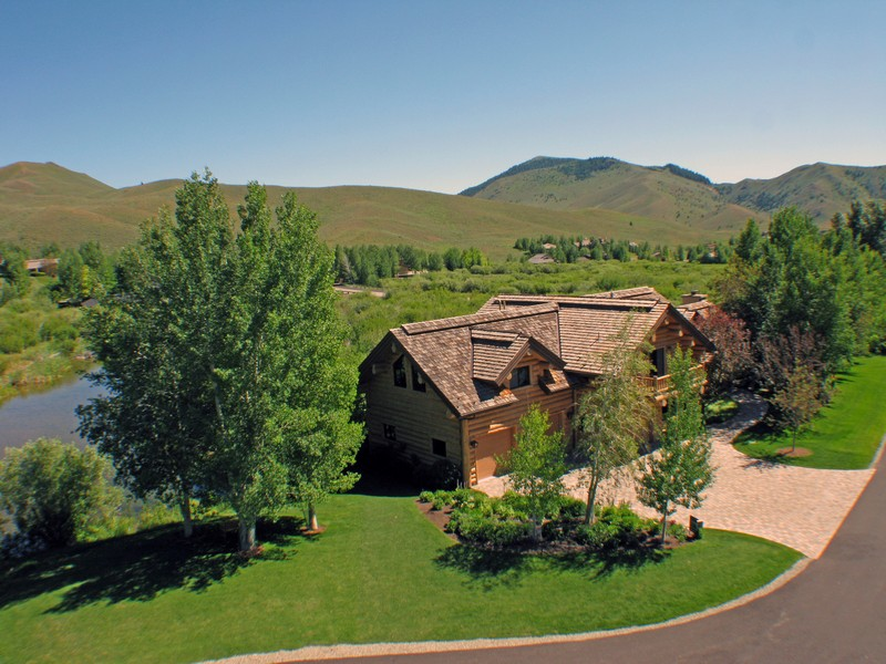 Single Family Home for Sale at Waterfront Lodge-Style Sun Valley Home 104 Silver Queen Dr Sun Valley, Idaho 83353 United States