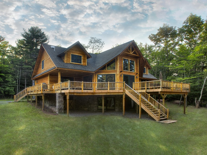 Single Family Home for Sale at Adirondack Lodge at the Chapin Estate 222 Sunset Pt Bethel, New York 12720 United States