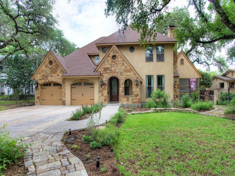 Single Family Home for Sale at Alamo Heights Home with Striking Facade 411 College Blvd San Antonio, Texas 78209 United States