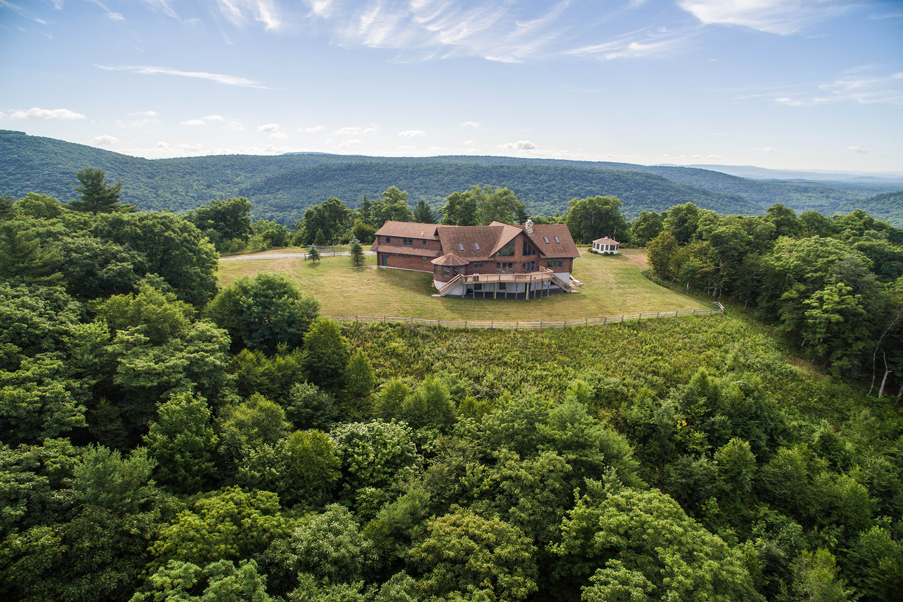 Single Family Home for Sale at Mountain Top Log Home on 127 Acres 270 Harrington Drive Austerlitz, 12017 United States