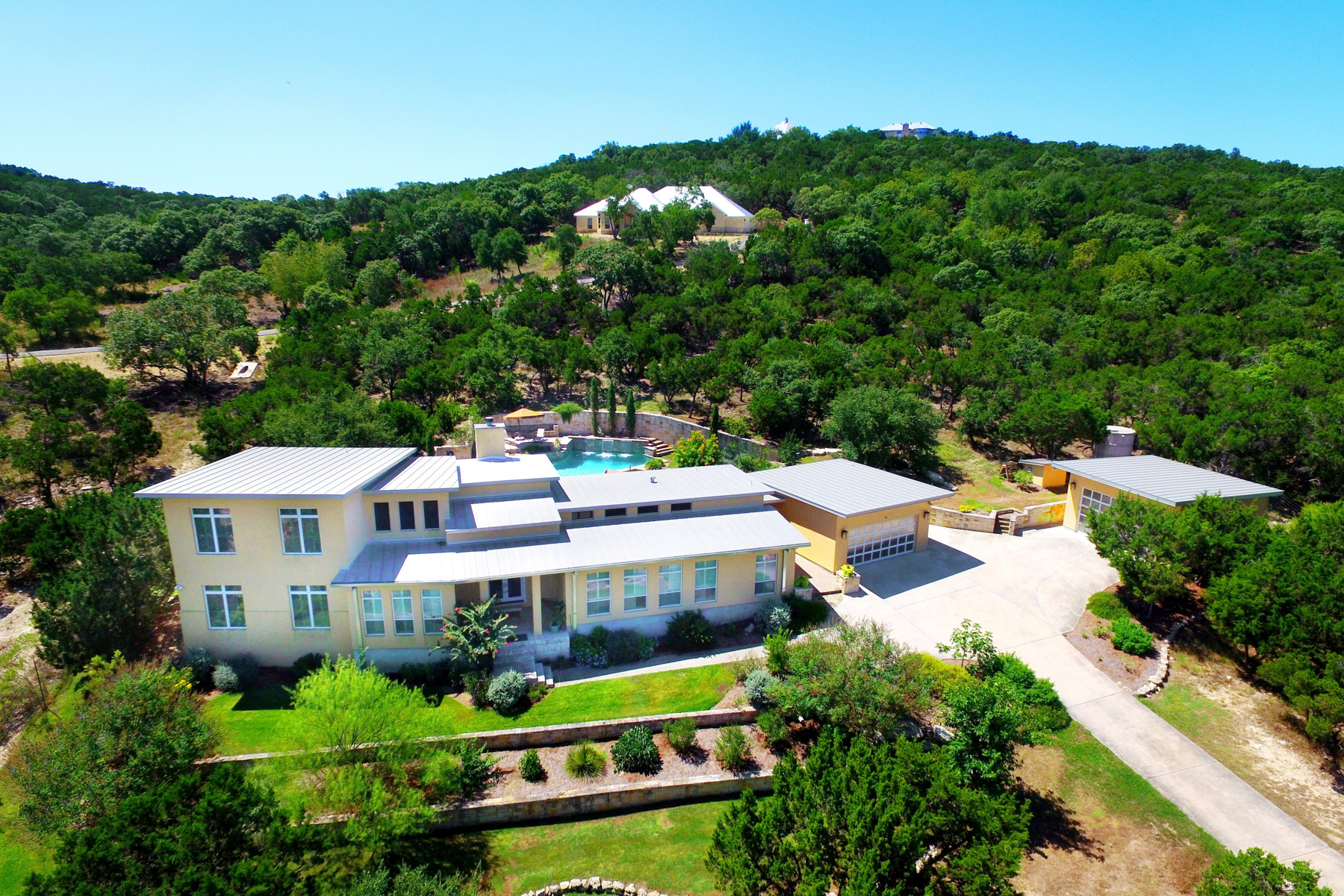 Single Family Home for Sale at Stunning Contemporary Estate 22619 Central Prairie San Antonio, Texas 78255 United States