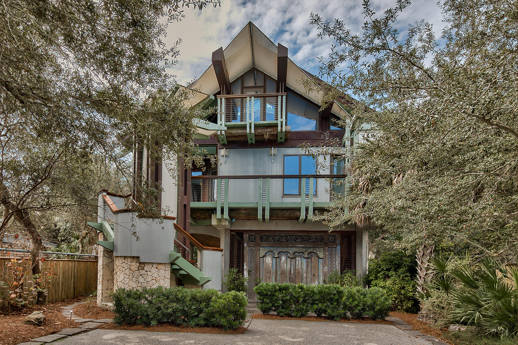 Single Family Home for Sale at ONE OF A KIND ARCHITECTURAL MASTERPIECE 52 Banfill Street Santa Rosa Beach, Florida, 32459 United States