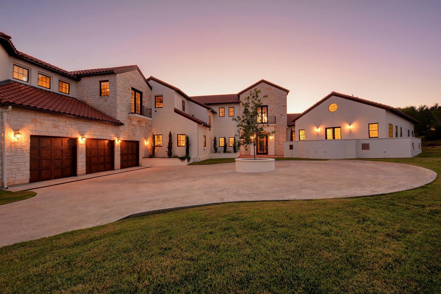 Single Family Home for Sale at Stunning Mediterranean 8600 Calera Dr Barton Creek, Austin, Texas, 78735 United States