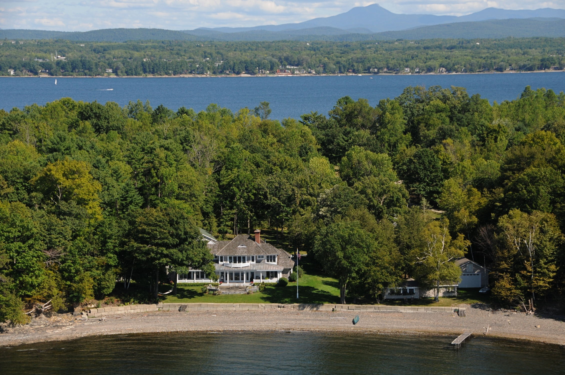 Single Family Home for Sale at Indian Cove on Lake Champlain Vermont 3689 Harbor Rd Shelburne, Vermont, 05482 United States