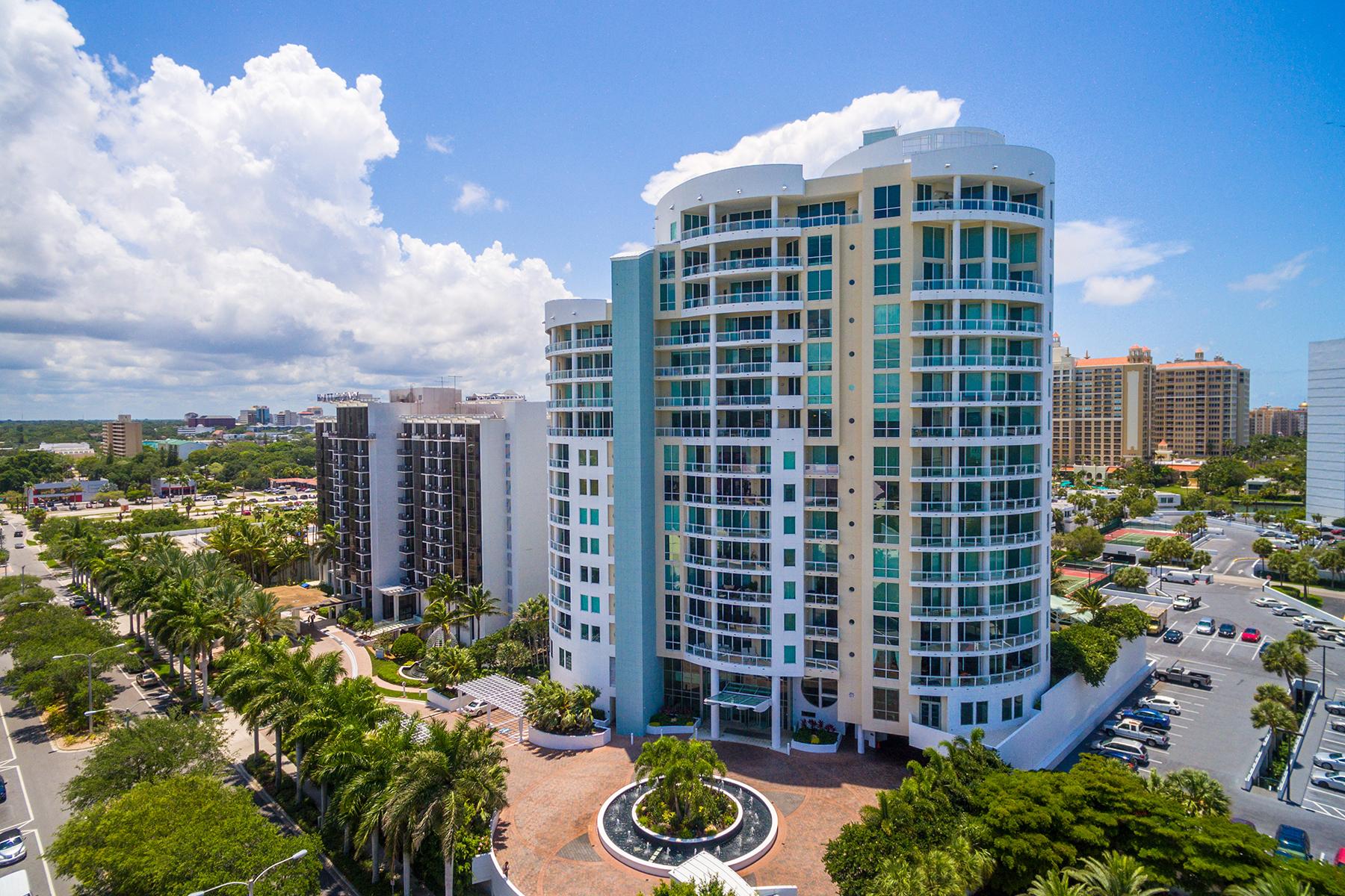 Condominio por un Venta en BEAU CIEL 990 Blvd Of The Arts 704 Sarasota, Florida, 34236 Estados Unidos