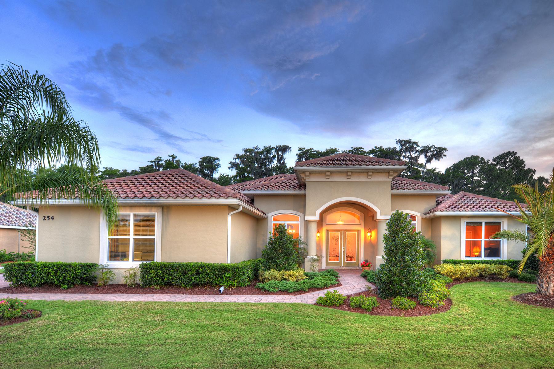 Casa para uma família para Venda às 254 Portofino Blvd , New Smyrna Beach, FL 32168 254 Portofino Blvd New Smyrna Beach, Florida, 32168 Estados Unidos