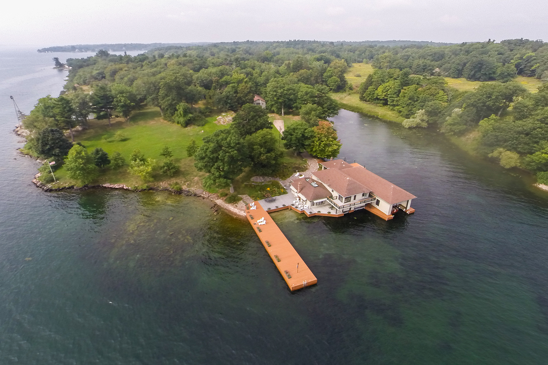 Property For Sale at Riverfront Home on Grindstone Island in Thousand I