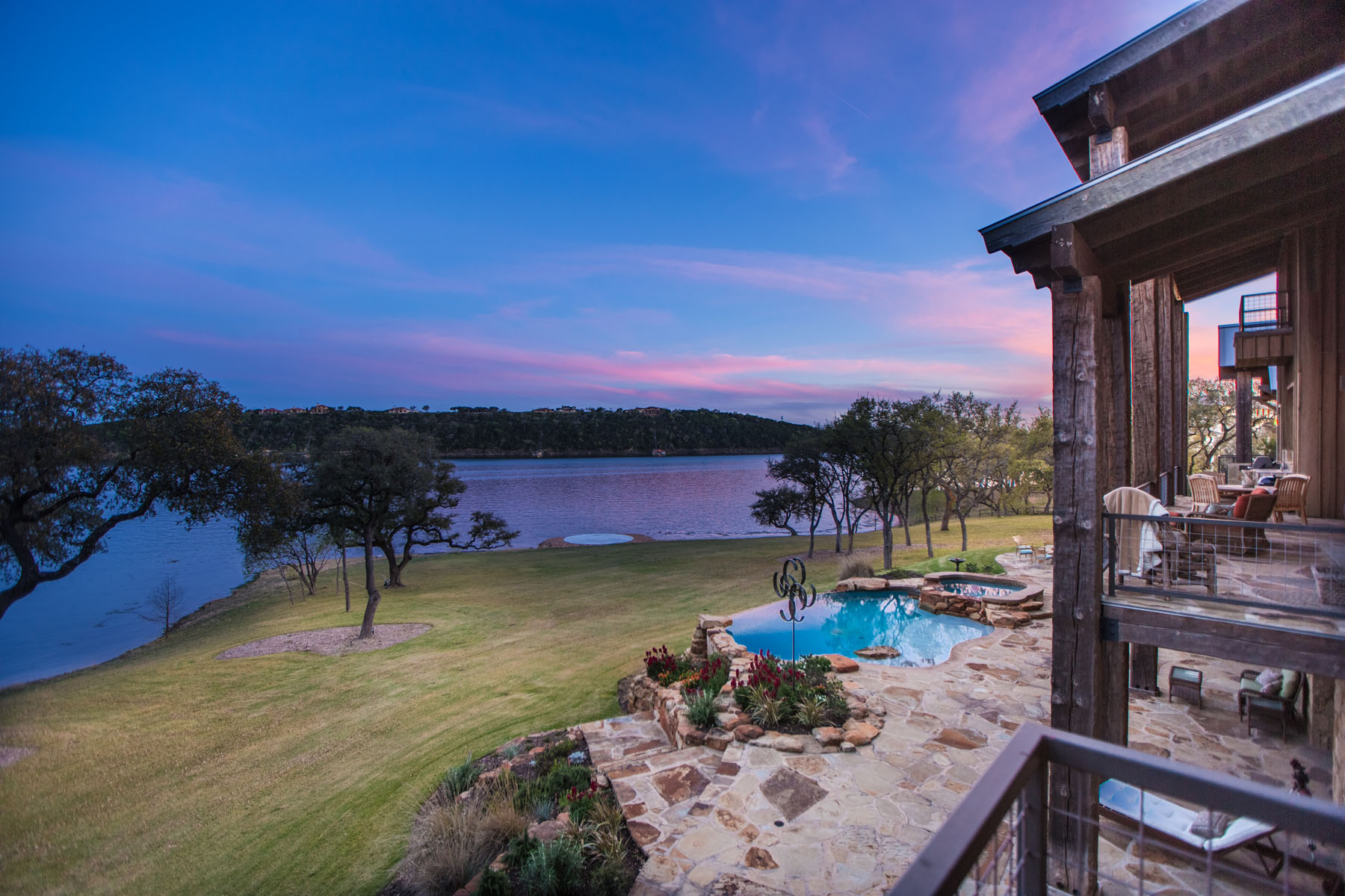 Single Family Home for Sale at Rustic Barn-Inspired Estate on Lake Travis 1920 Valentino Cv Spicewood, Texas 78669 United States