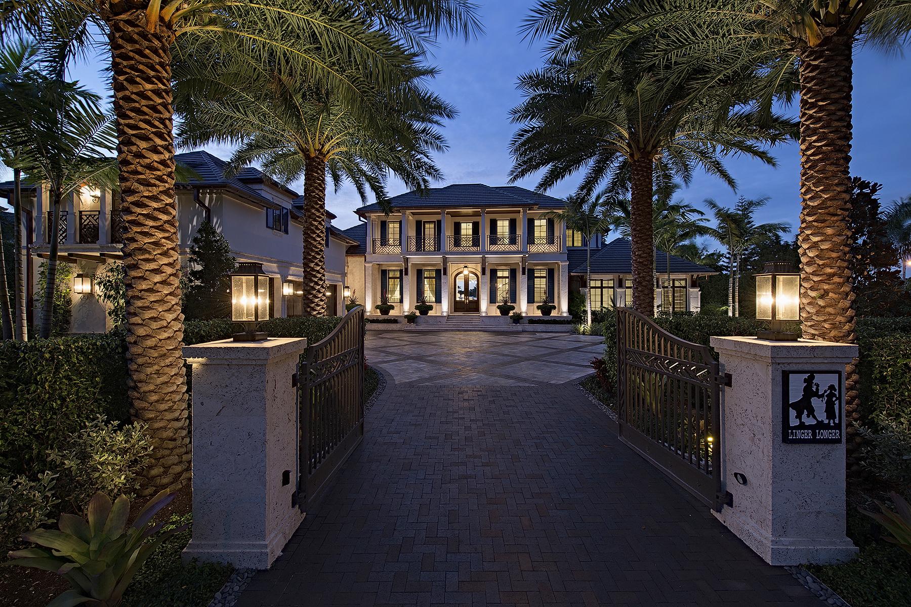 Maison unifamiliale pour l Vente à PORT ROYAL 3600 Nelsons, Naples, Florida 34102 États-Unis