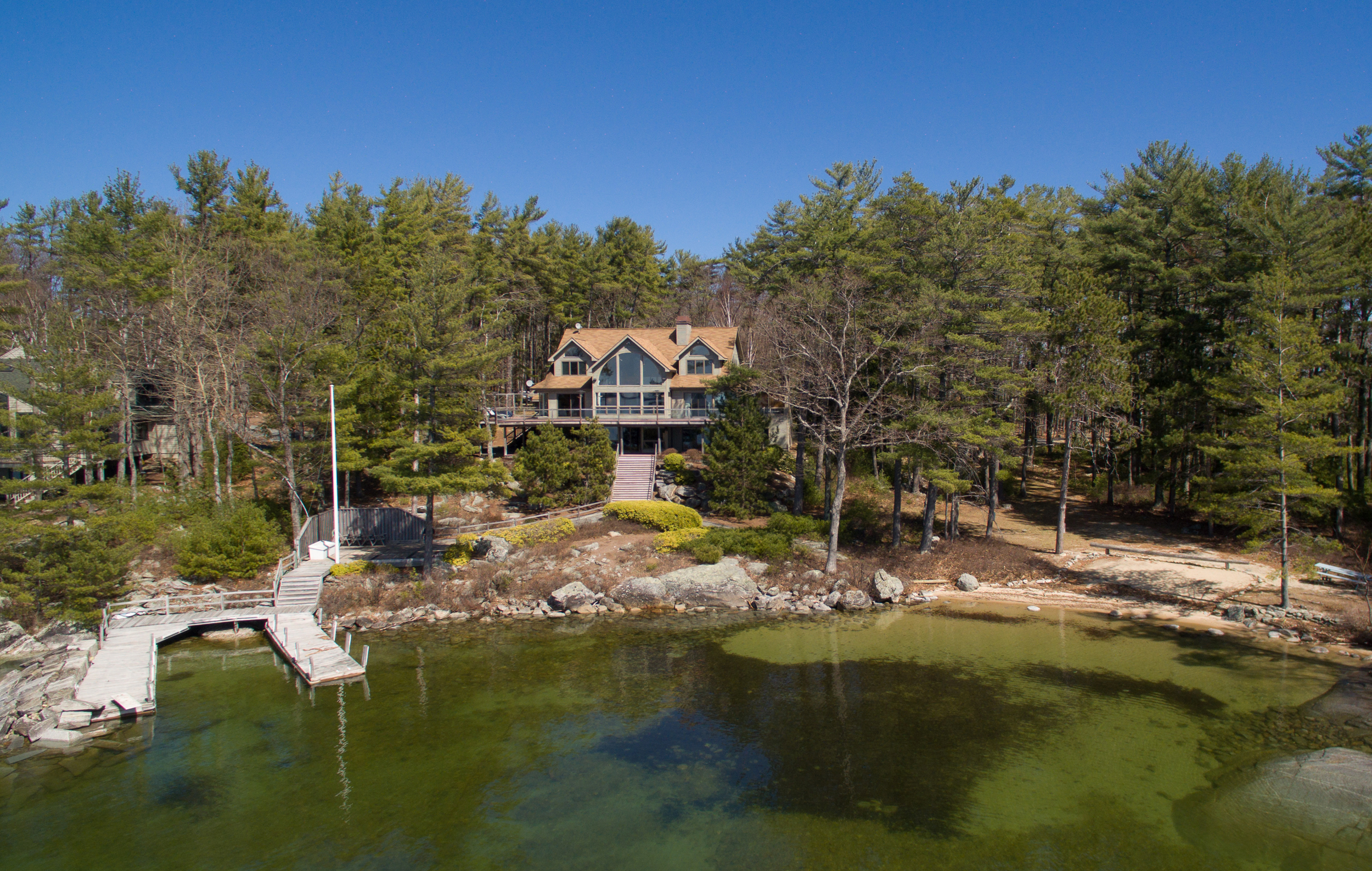 Single Family Home for Sale at Lake Winnipesaukee Retreat with Panoramic Views 200 Windermere Rd Moultonborough, New Hampshire, 03254 United States