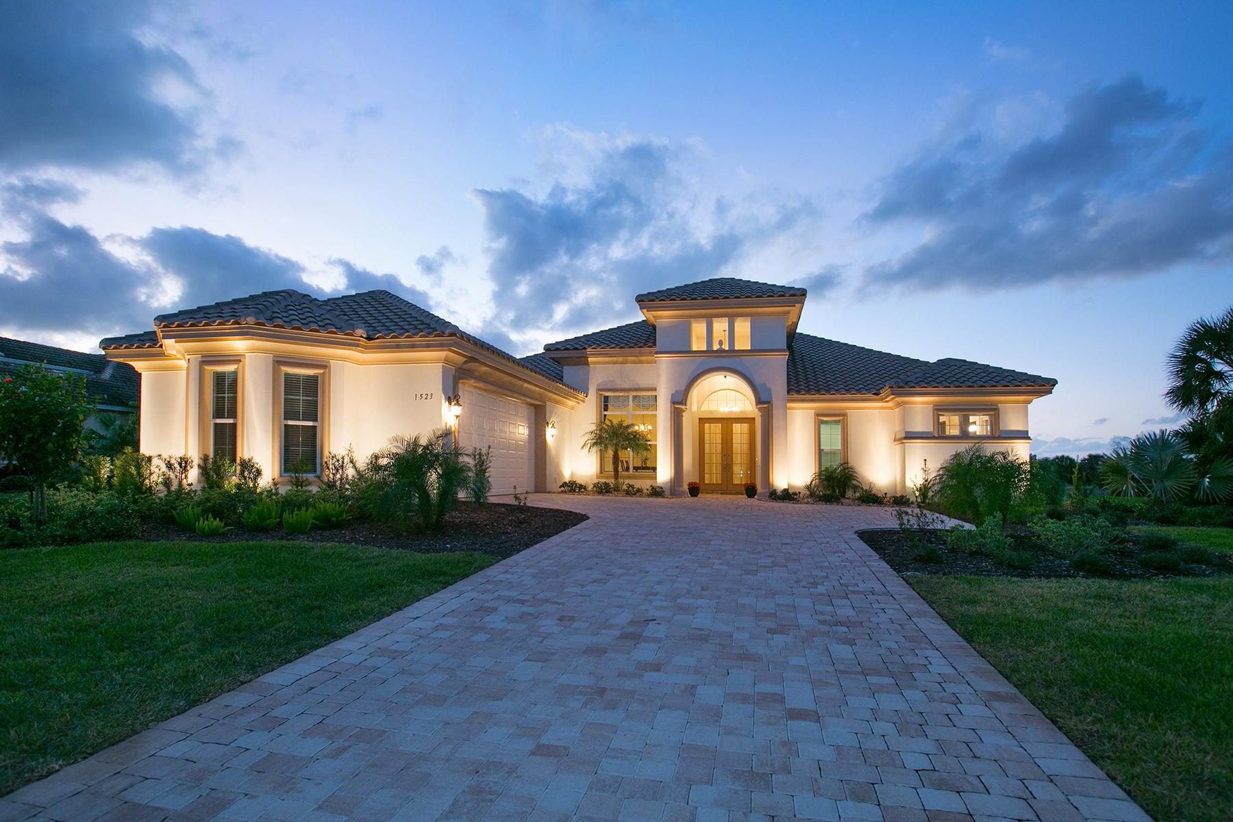 단독 가정 주택 용 매매 에 BOCA ROYALE 1523 Raphis Royale Blvd Englewood, 플로리다 34223 미국